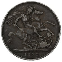 1893 Queen Victoria Silver Crown - About Fine