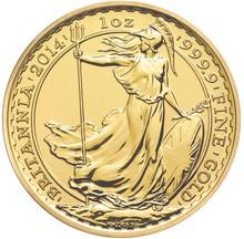2014 1oz Privy Horse Edge British Britannia Gold Coin