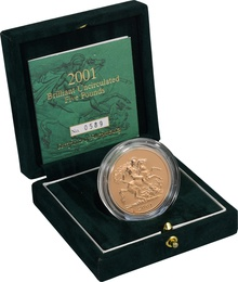 2001 - Gold £5 Brilliant Uncirculated Coin Boxed