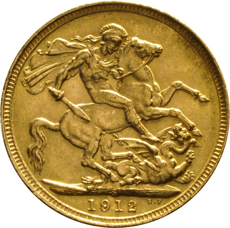 1912 Gold Sovereign - King George V - S