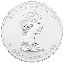 1989 1oz Canadian Maple Silver Coin