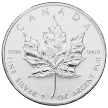 2004 1oz Canadian Maple Silver Coin