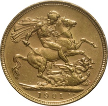 1901 Gold Sovereign - Victoria Old Head - P