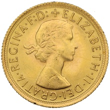 Elizabeth II Young Head Gold Sovereign Gift Boxed