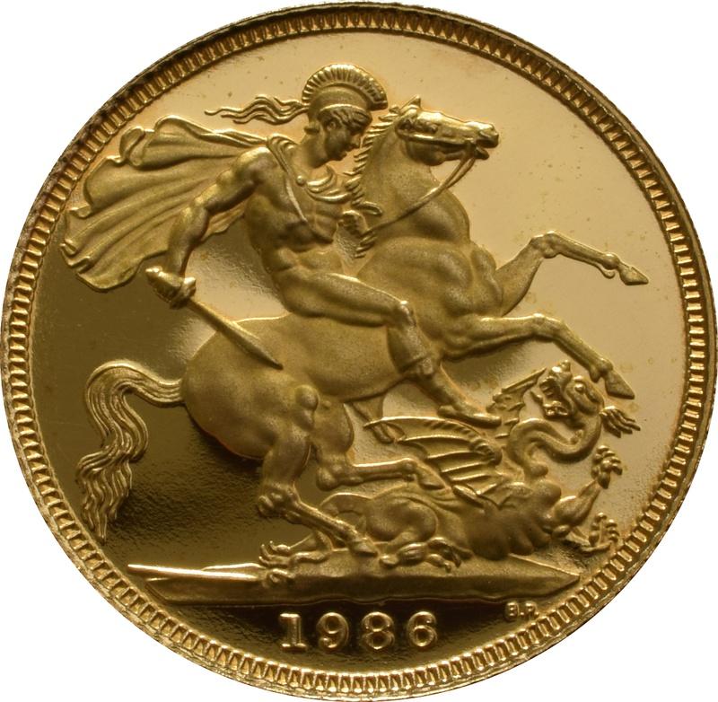 1986 Gold Sovereign - Elizabeth II Third head Proof