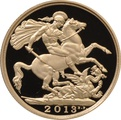 2013 £2 Two Pound Proof Gold Coin (Double Sovereign)