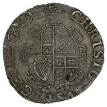 1635-6 Charles I Hammered Silver Shilling - mm Crown