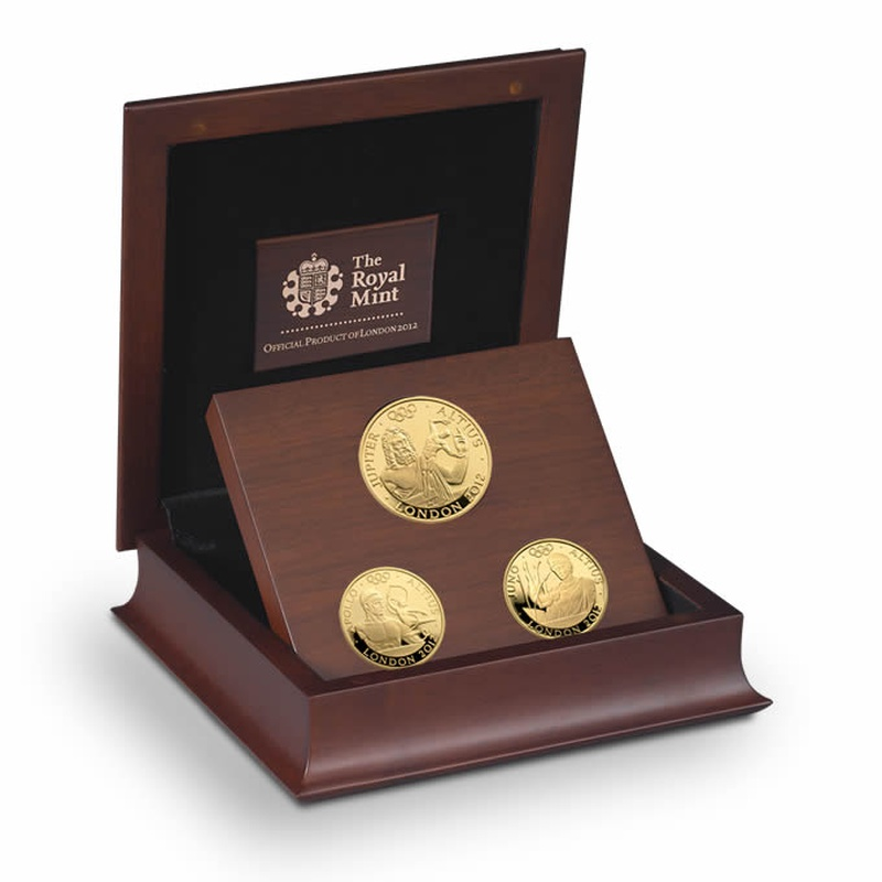 London 2012 Gold Series - Higher 3-coin Gold Proof Set Boxed