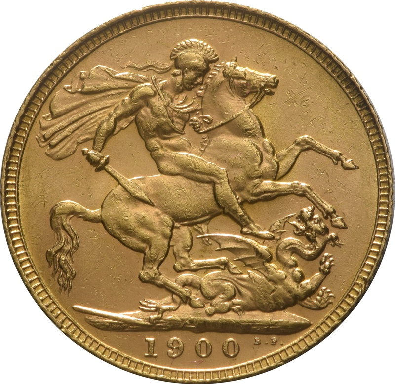 1900 Gold Sovereign - Victoria Old Head - London