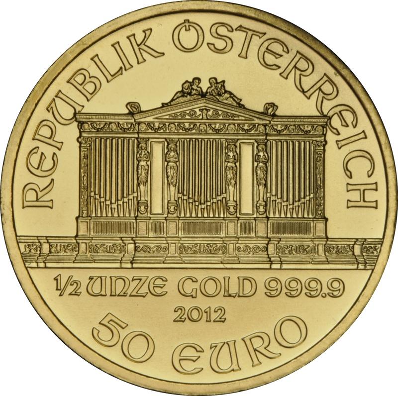 2012 Half Ounce Gold Austrian Philharmonic
