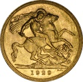 1929 Gold Sovereign - King George V - P