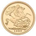 1999 Gold Half Sovereign Elizabeth II Fourth Head Proof