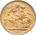 1899 Gold Sovereign - Victoria Old Head - P
