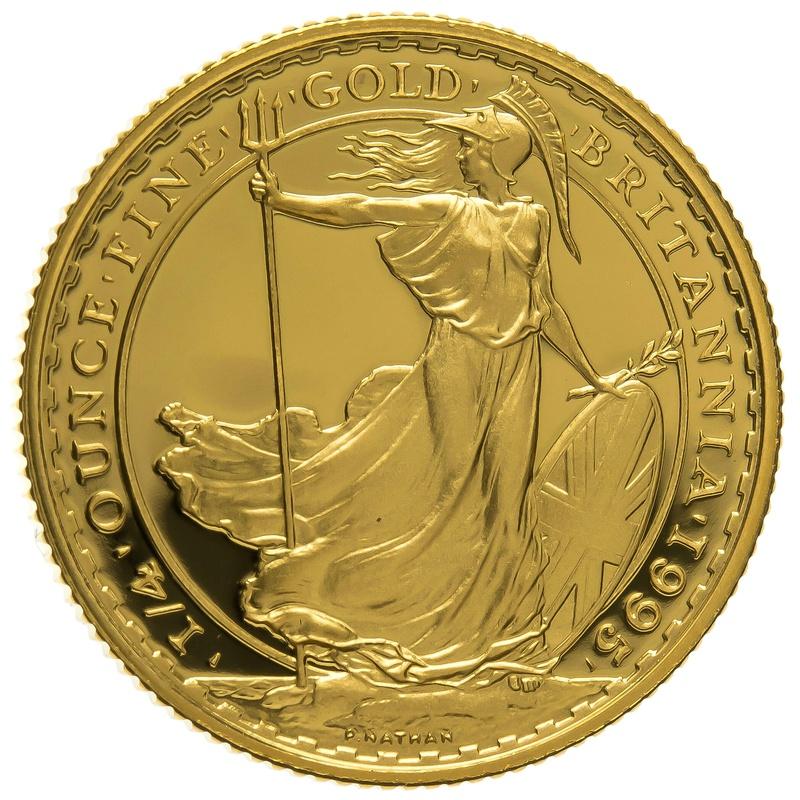 1995 Quarter Ounce Proof Britannia Gold Coin