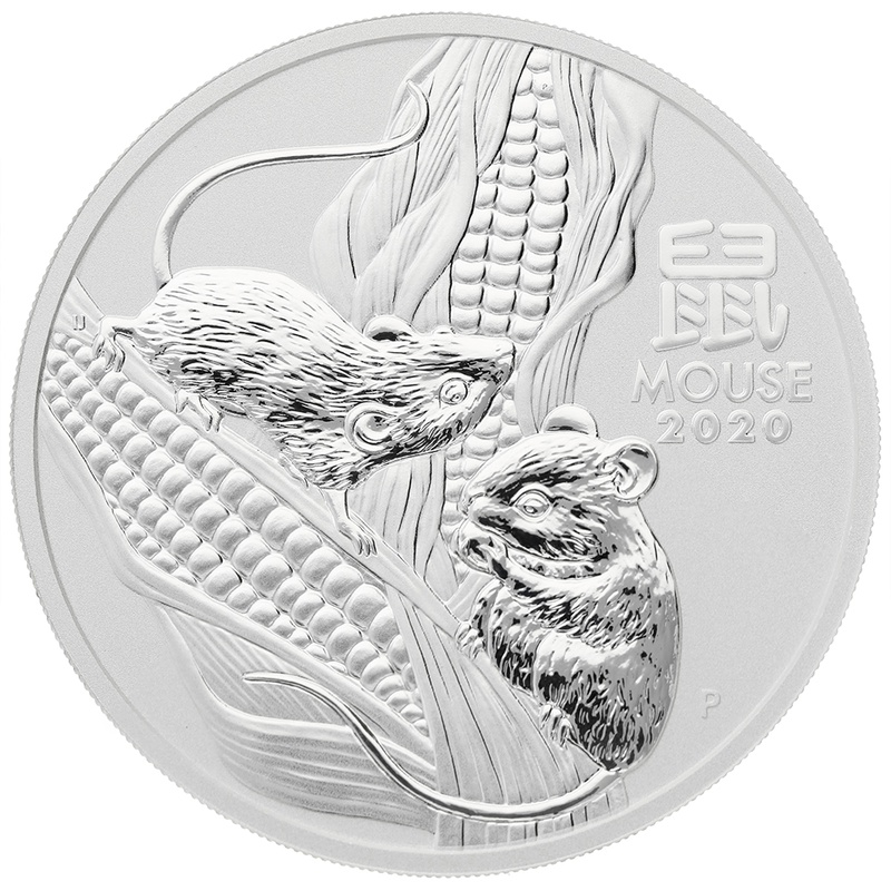 2020 5oz Australian Lunar Year of the Mouse Silver Coin