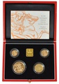 1999 Gold Proof Sovereign Four Coin Set Boxed