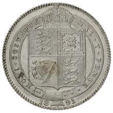 1891 Victoria Silver Shilling
