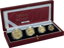 2000 Proof Britannia Gold 4-Coin Set Boxed