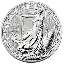 2020 1oz Silver Britannia (Oriental Border) Coin
