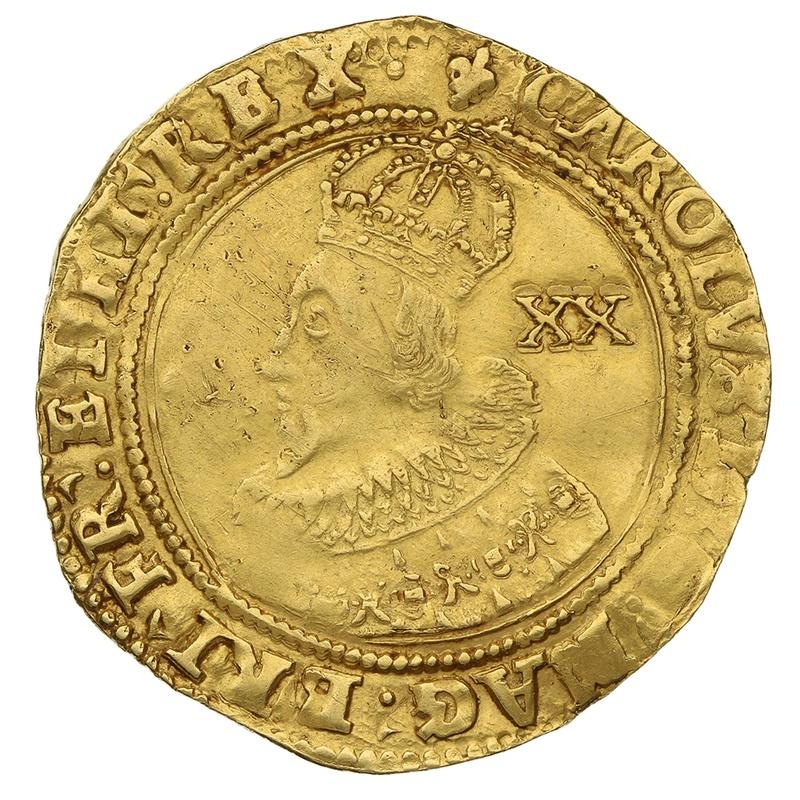 1625 Charles I Unite Gold Coin - mm Lis