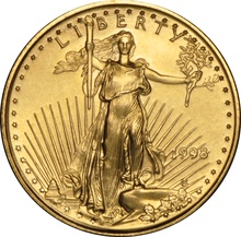 1998 Tenth Ounce Eagle Gold Coin