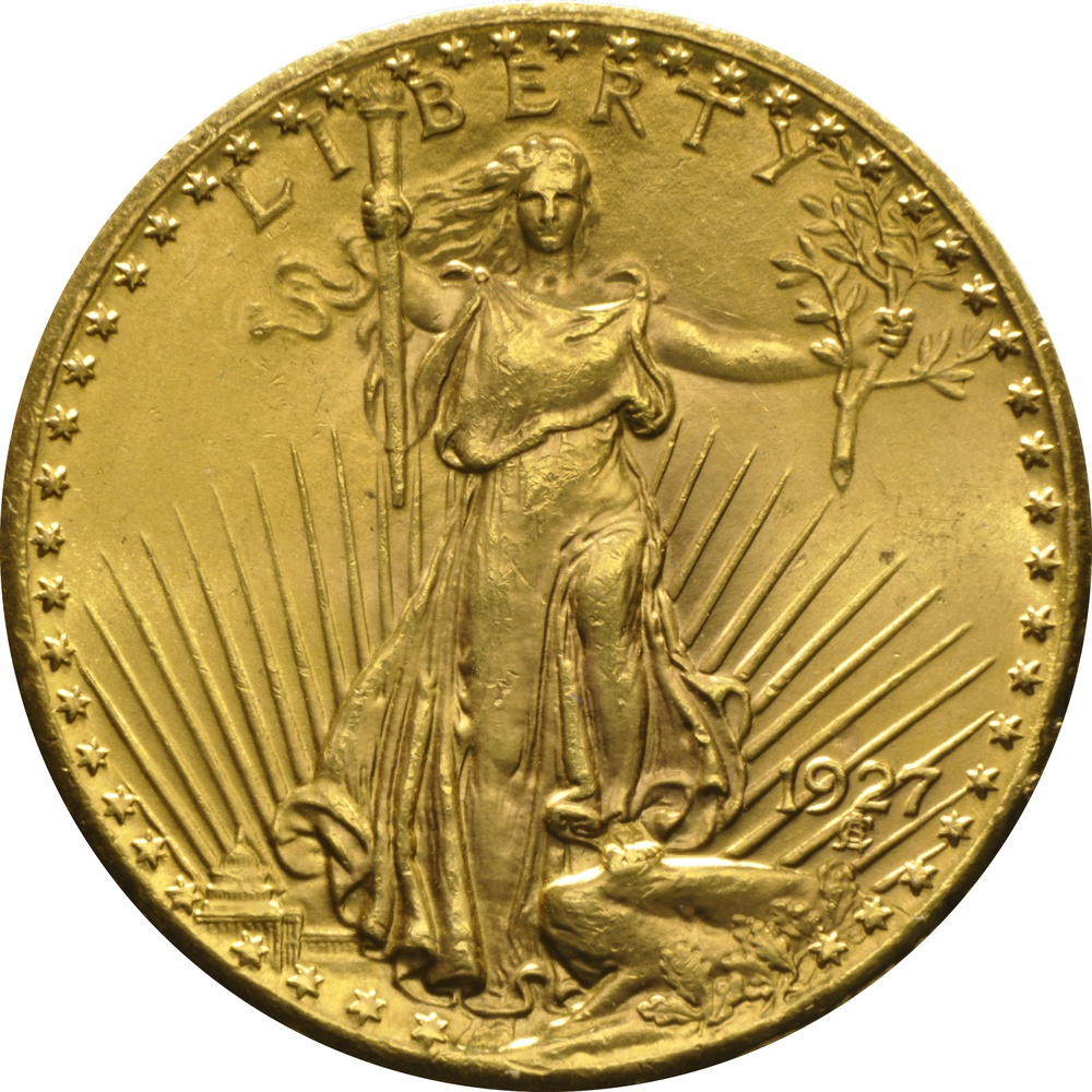 1927 20 Double Eagle St Gaudens Gold Coin From 163 1 496