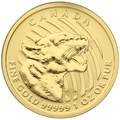 2015 1oz Canadian Growling Cougar Gold Coin