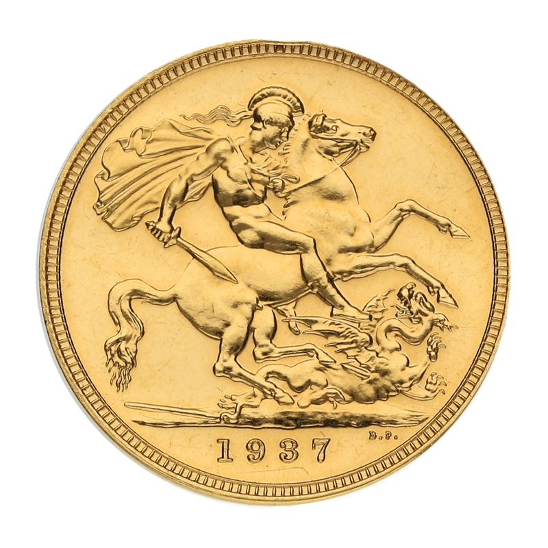 Gold Proof 1937 Sovereign George VI
