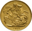 1911 Gold Sovereign - King George V - S