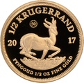 2017 Proof Half Ounce Krugerrand Gold Coin 50th Anniversary privy mark