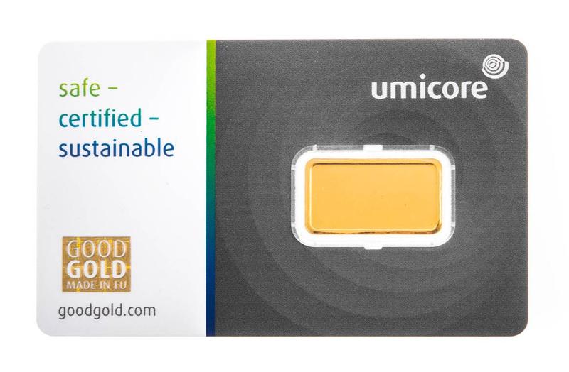 Umicore 2.5 Gram Gold Bar
