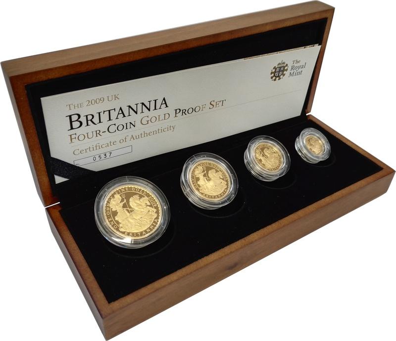 2009 Proof Britannia Gold 4-Coin Set Boxed
