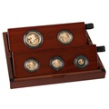 2020 Gold Proof Sovereign Five Coin Set - Fifth Head Boxed