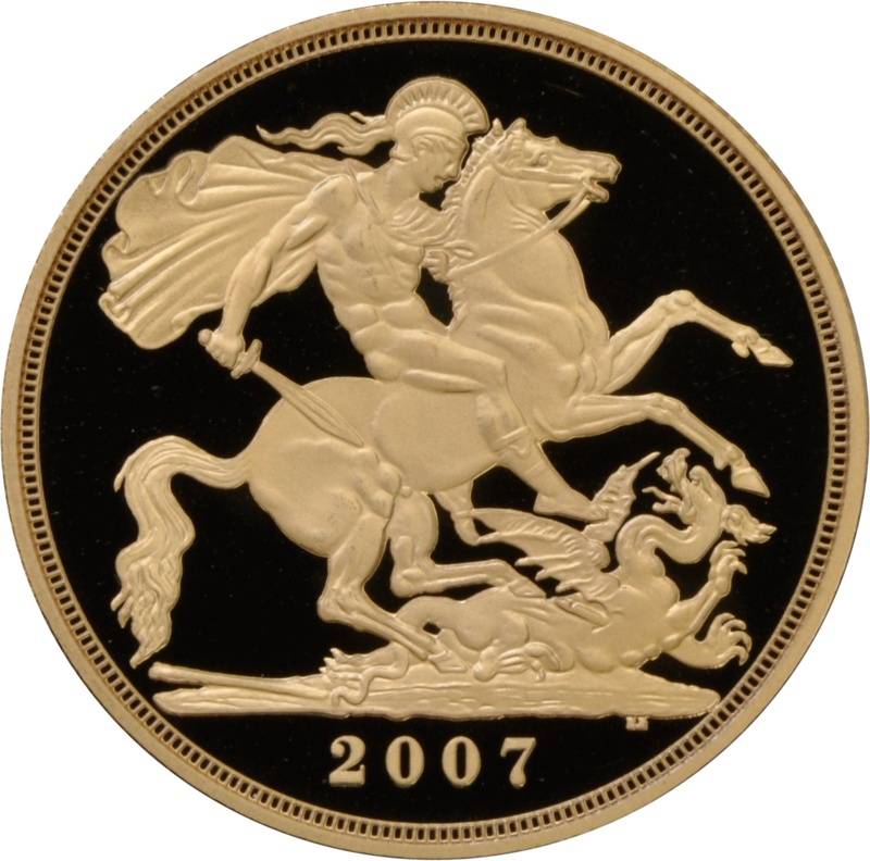 2007 £2 Two Pound Proof Gold Coin (Double Sovereign)