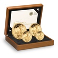2012 Proof Britannia Gold 4-Coin Set Boxed