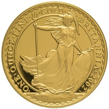2002 One Ounce Proof Britannia Gold Coin