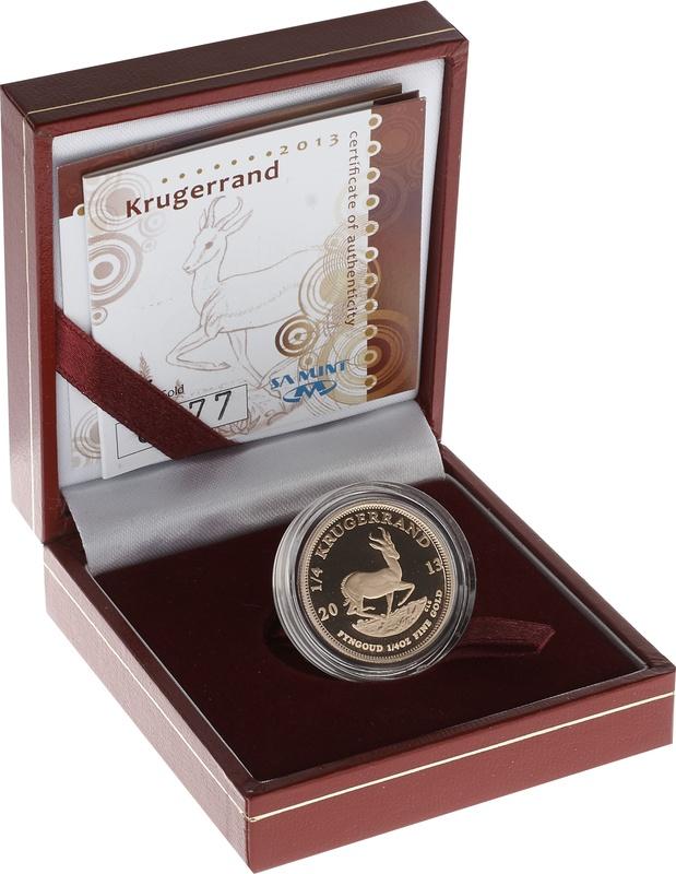 2013 1/4oz Gold Proof Krugerrand - Boxed