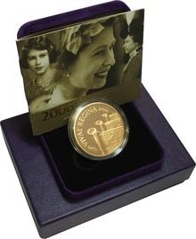 2006 - Gold £5 Proof Crown, Queen Elizabeth II 80th Birthday Boxed