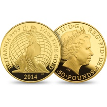 Premium 2014 Proof Britannia Gold 3-Coin Set Boxed