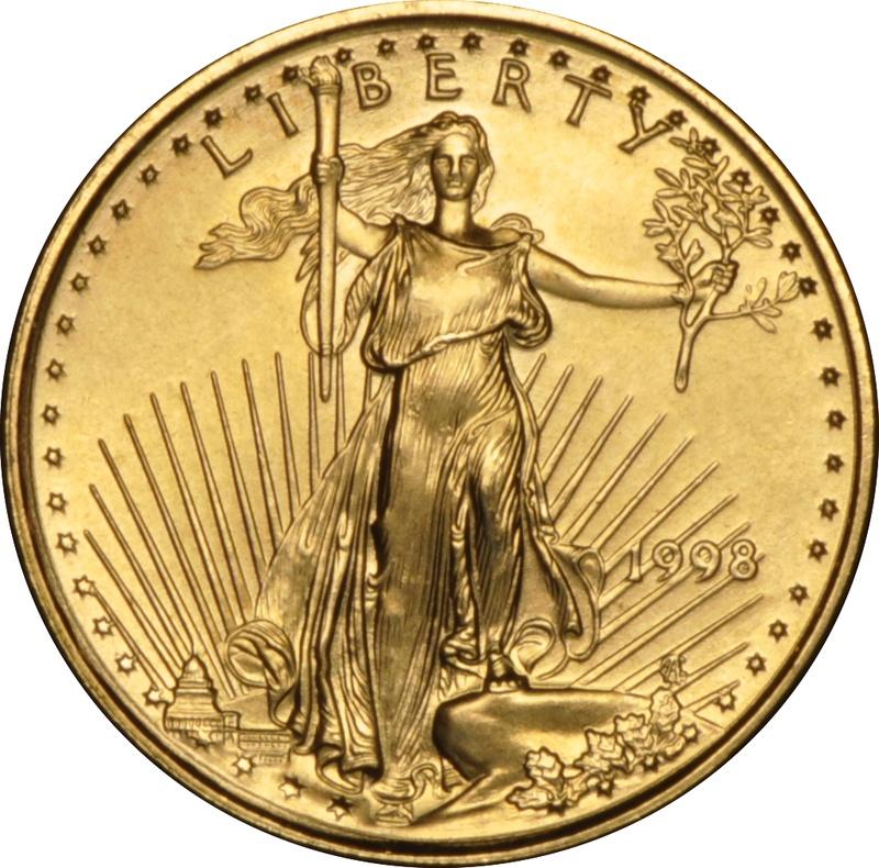 1998 Tenth Ounce Eagle Gold Coin