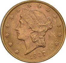 American Liberty Head Gold Double Eagle $20
