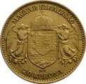 1905 Hungarian 20 Korona Joszef I Gold Coin