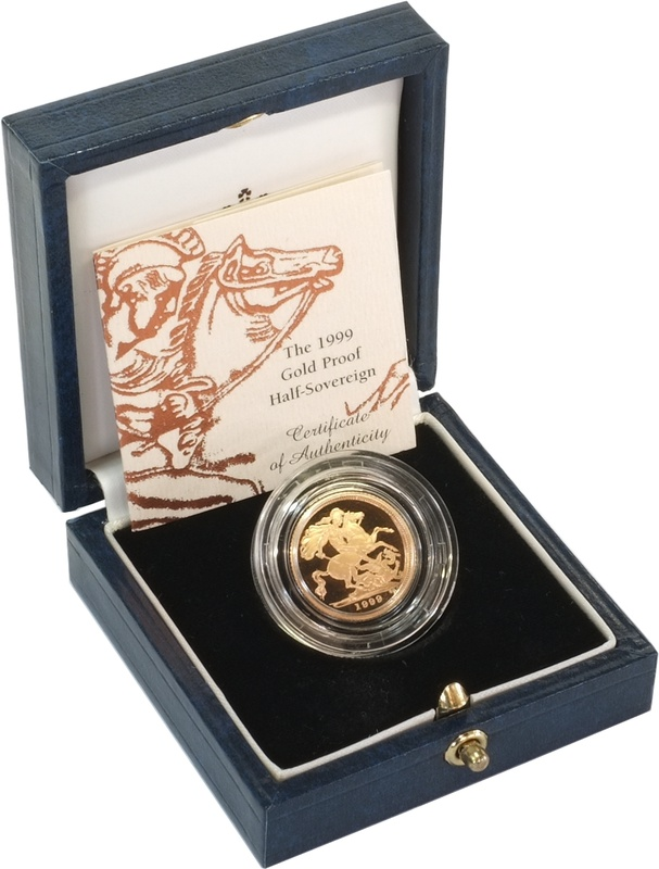 Gold Proof 1999 Half Sovereign Boxed