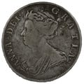 1707 Queen Anne Silver Halfcrown SEXTO