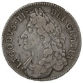 1686 James II Silver Halfcrown SECVNDO