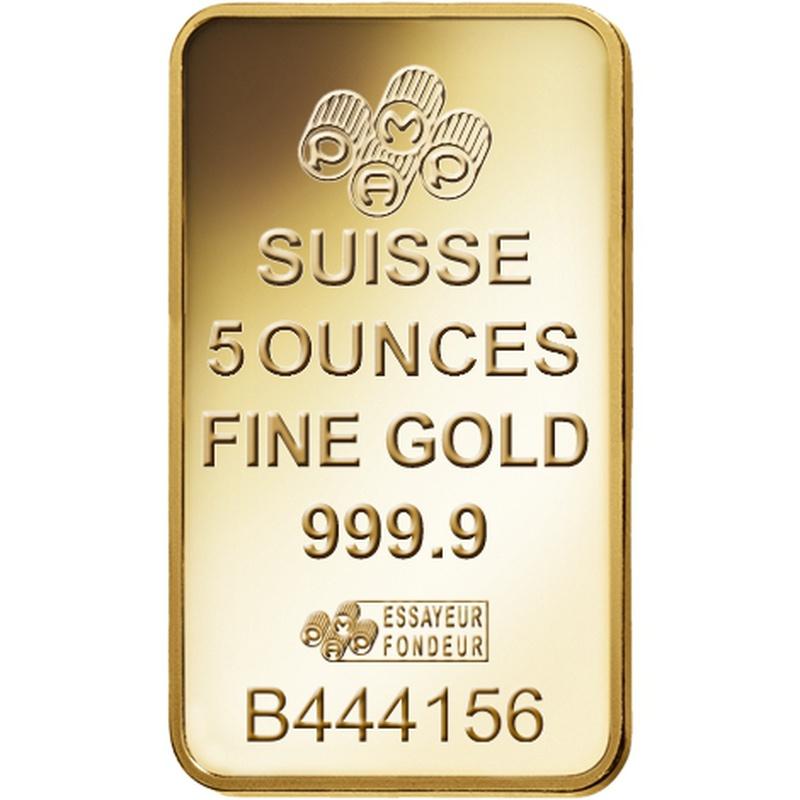 PAMP 5oz Gold Bar Minted