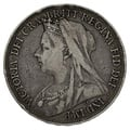 1896 LX Queen Victoria Silver Crown - Fine