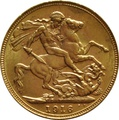 1916 Gold Sovereign - King George V - P