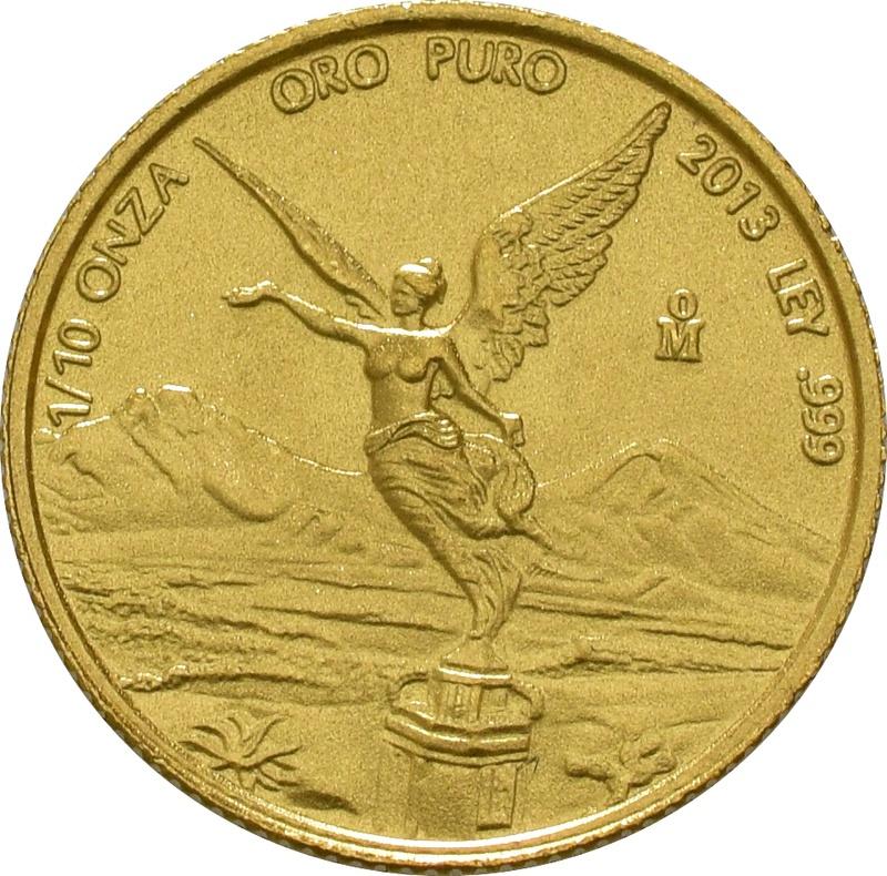 Tenth Ounce Libertad Gold Coin