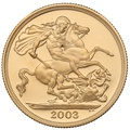 2003 £2 Two Pound Proof Gold Coin (Double Sovereign)